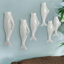 Interior Wall Hung Decorative Fish Shape Vase with Artificial Flowers Home Bar image 10