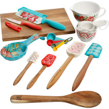 Vintage Floral Wooden Spoon Versatile Stylish 20 Piece Kitchen Tool Gadg... - $47.67