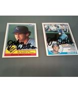 John Wathan Kansas City Royals Two Signed Baseball Cards Topps - $10.88
