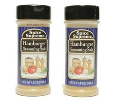2 Spice Supreme® Hamburger Seasoning Salt Fresh USA MADE Spices Cooking ... - $10.21
