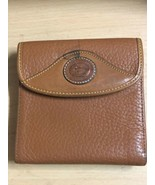 Vintage Dooney & Bourke Wallet Pebbled Leather Bi Fold Kisslock Coin Purse - $22.20
