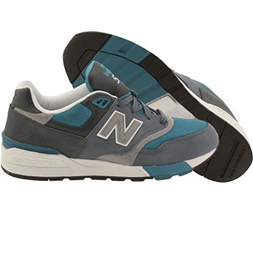 New Balance Men's ML597Modern Classics Fashion Sneaker, Harbor Blue/Orca/Dark Cy