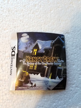 Nintendo DS 2008 Nancy Drew The Mystery of the Clue Bender Society Instr... - $4.99