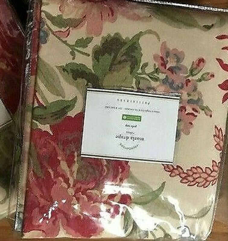 Primary image for Pottery Barn Marla Drape 50x84L Curtain Floral Pole Pocket Blush Just One