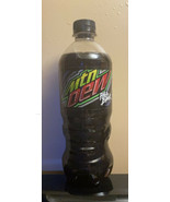 Mountain Dew Pitch Black 20 Oz Bottle, New/Sealed RARE - $29.68