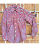 Vtg Western Fashions Shirt-Red Plaid-Snap Button Up-Cowboy Ranch Farm Rodeo - $24.30