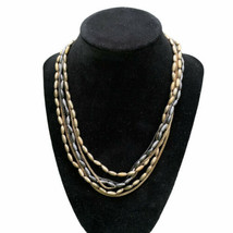Kenneth Cole Reaction Necklace, Multi-Strand Gold Pewter Tone Chain Necklace - $12.86