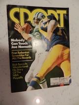 SPORT MAGAZINE NOV 1975 JOE NAMATH COVER FRAN TARKENTON RICK BARRY ARTICLES - $3.00