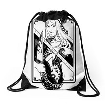 Card Girl Deat Game Drawstring Bags - $30.00