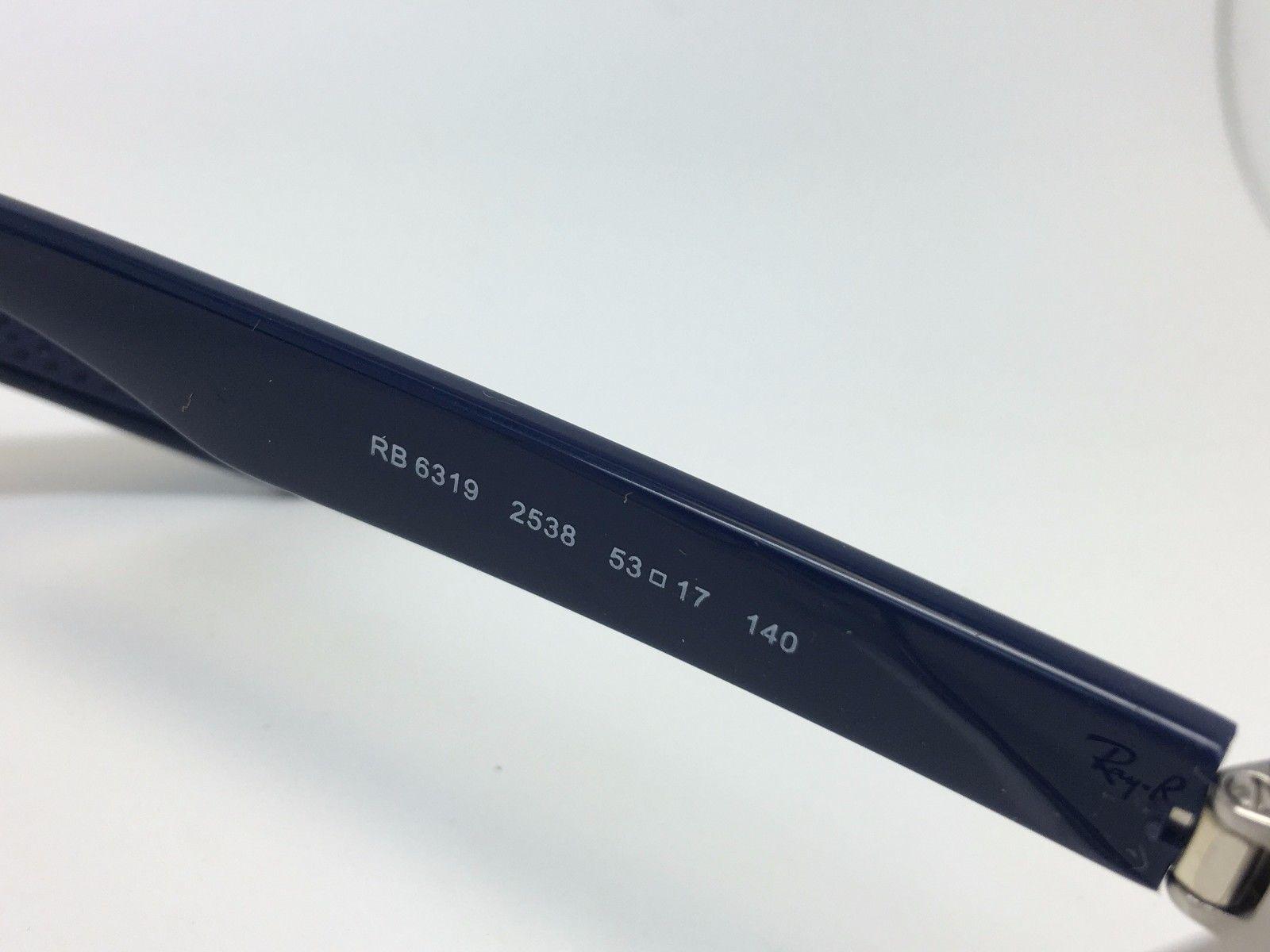 2b02e4a42fe Ray-Ban RB 6319 2538 Gunmetal Blu GOMMA Nuovo Autentico Occhiali da Sole