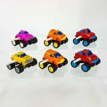 Vintage Plastic Wind Up Toy Lot 6pc Monster Truck 4x4 Van Car VW - $15.44