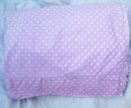 Pottery Barn Pink Polka Dot Twin Flat Sheet Pure Cotton PBK - $19.95