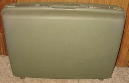 "Vtg Samsonite Saturn 24"" x 18"" x 6 1/2"" Gray/Green Suitcase Hard Travel ... - $18.81"