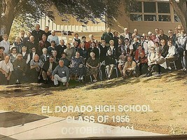 Vintage Picture El Dorado Kansas 1956 High School Class Wood Glass Frame... - $27.67
