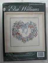 New Elsa Williams Heartfelt Wreath Counted Cross Stitch Kit - $9.85