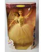 Mattel BARBIE Girls Doll Long Golden Yellow Dress Sugar Plum Fairy Nutcr... - $18.99