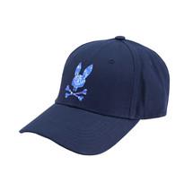 Psycho Bunny Men's Strapback Tie Dye Pattern Rubber Logo Navy Baseball Cap Hat image 2