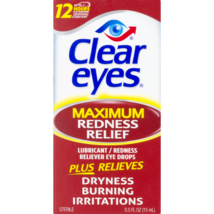 Clear Eyes Maximum Redness Relief Eye Drops, 0.5 fl oz - $5.09