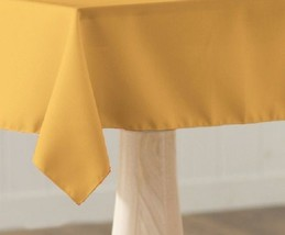 Square Tablecloth Gold Reversible Polyester Fabric Table Cover Linen Mad... - $14.99