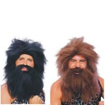 Wig - Pre-Historic - Set of 2 - Black + Brown - Adult Caveman Beard & Wi... - $18.91