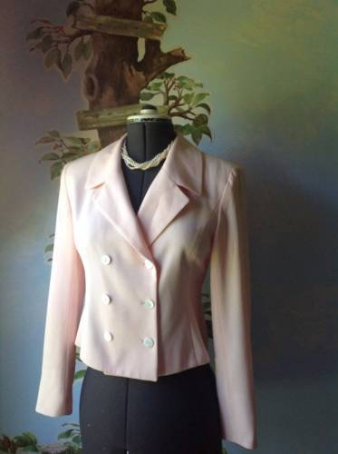 One 212 Women's Pink Double Breasted Blazer Suit Jacket SZ 6