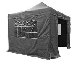 Pop Up Gazebo Grey Waterproof Instant Heavy Duty Market Stall Patio Gard... - $170.00