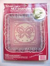 Net Darning Kit BUTTERFLY PILLOWCASE Mesh Cover 2526 New Vintage VOGART ... - $11.99