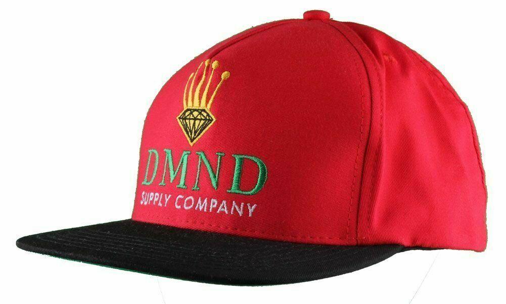 NEW Diamond Supply Co. diamond Crown Snapback Hat Black Red or Green