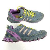 Adidas Kanadia TR Womens Trail Running Shoes Sz 9.5 Teal Purple Yellow H... - $32.68