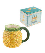 3D Pineapple Coffee Mug, Ceramic Fruit Design Tea Cup Juice Mug in Gift Box - £14.71 GBP