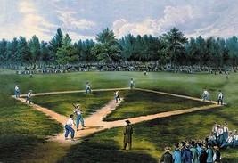 Baseball Diamond by Nathaniel Currier - Art Print - $19.99+