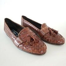 Bragano COLE HAAN Brown Woven Leather Tassel Loafers Men's Dress Shoes 1... - $69.95