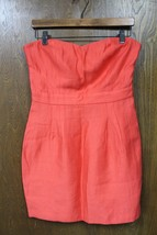 W9746 Womens COOPERATIVE Urban Outfitters Orange STRAPLESS DRESS Short sz 6 - £10.35 GBP