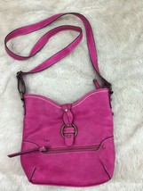 BOC Hot Pink Cross Body Purse Manmade Organizer Born Concept - $39.59