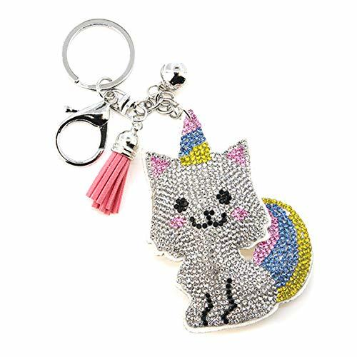 scarlettsbags Pave Crystal Cat Unicorn Rainbow Handbag Purse Charm Jewelry Pillo
