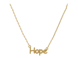 Dainty Metal Hope Pendant Necklace - $15.95