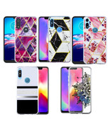For Motorola Moto E 2020 Hybrid Gel TPU Marble Stone Pattern Phone Case ... - $8.57