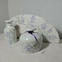 Les Bains Decores De Porcelaine De Paris France Depuis 1773 Glycine Decor - $275.95
