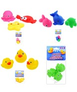 Bath Toys Rubber Duckies Frogs Sea Animals 3pc Sets Kid Bath Time Fun New - $6.99