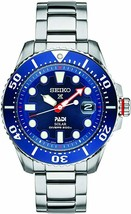 New Seiko Padi Solar Prospex Divers 200M Stainless Steel Men's Watch SNE549 - $279.98