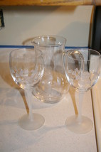 AVON Hummingbird Collection 24% Lead Crystal Goblets and Pitcher - $52.00