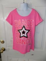 Justice Dance Dance Dance Star Shirt Size 10 Girl's Euc - $16.91