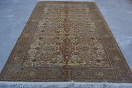 antique turkish kayseri area rug  6'6 x 9'8 turkish ouhaq vintage carpet... - $1,153.39