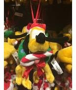 disney parks christmas ornament pluto plush new with tag - $22.27