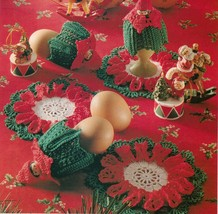 5X Christmas Stars Ornament Egg Warmers Goodie Bag Runner Irish Crochet ... - $6.99