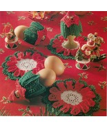 Christmas Star Ornament Egg Warmer Tree Wall Hanging Mat Coaster Crochet... - $8.99