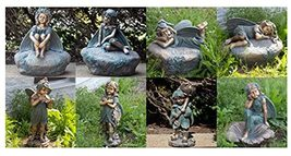 Large Magnesium Fairy Statues for Outdoor Use (Set of All 8 Fairies (1 o... - $2,194.95