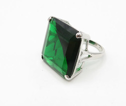 925 Sterling Silver - Vintage Green Topaz Solitaire Statement Ring Sz 4 ... - $52.53 CAD