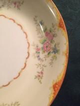 "10 Noritake Morimura ""M"" China Soup Bowl Hand-Painted Flowers Orange Ivo... - $37.99"