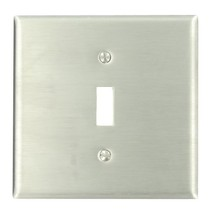 Leviton 84040-40 2-Gang 1-Toggle Centered Device Switch Wallplate, Device Mount, - $17.19